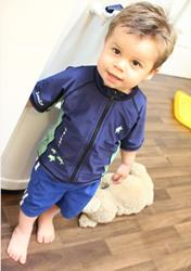 Boy swimwear woodfloor
