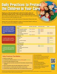 Cleaning Childcare Facilities Poster