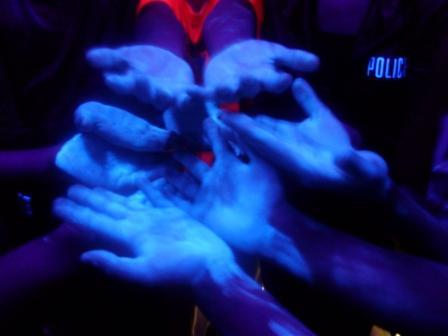 Germs on middle school students' hands - ewww!