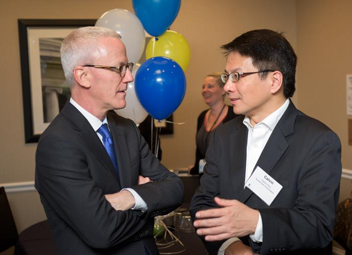 Tom O'Brien (Sasol) and Calvin Chiu (Huntsman Corp