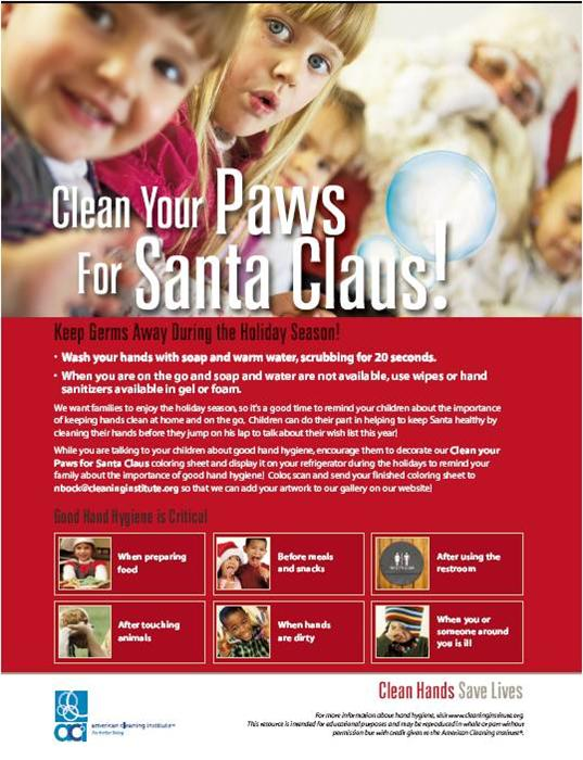 Clean Your Paws for Santa Claus