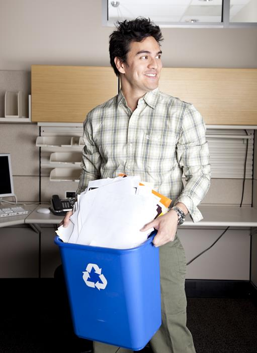 sustainability recycle at work