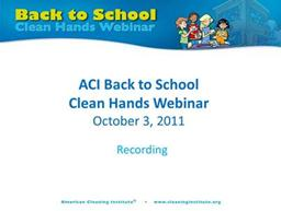 Back to School Clean Hands Webinar Recording