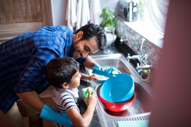 Getting Kids To Wash The Dishes