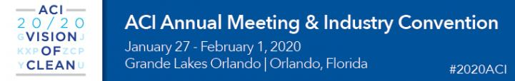 The ACI Convention 2020 will be January 27 to February 1 in Orlando, Florida.