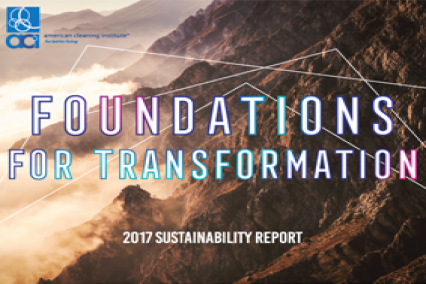 Cover of 2017 ACI Sustainability Report